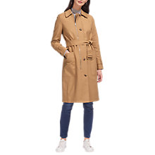 Buy Whistles Zip Detail Trench Coat, Beige Online at johnlewis.com