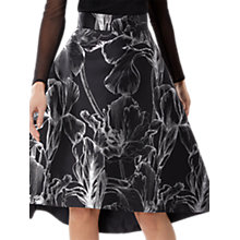 Buy Coast Kiki Jacquard Skirt, Black Online at johnlewis.com