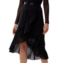 Buy Coast Loretta Pleated Skirt, Black Online at johnlewis.com