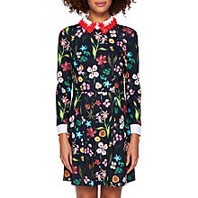 Buy Ted Baker Tillena Hampton Collar Dress, Black Online at johnlewis.com