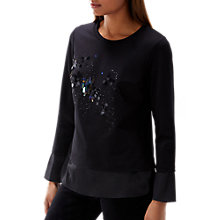 Buy Coast Hailey Sequin Embellished Jumper, Black Online at johnlewis.com