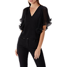 Buy Coast Jo Pleated Top, Black Online at johnlewis.com