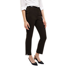 Buy Phase Eight Daniela Pinstripe Trousers, Black Online at johnlewis.com
