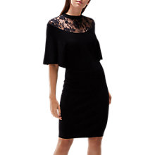 Buy Coast Remy Lace Trim Knitted Dress, Black Online at johnlewis.com
