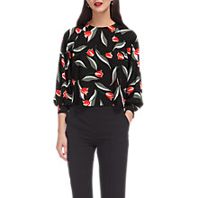 Buy Whistles Tulip Print Bell Cuff Top, Multi Online at johnlewis.com
