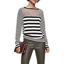 Buy Reiss Marlow Striped Jumper, Black/White Online at johnlewis.com