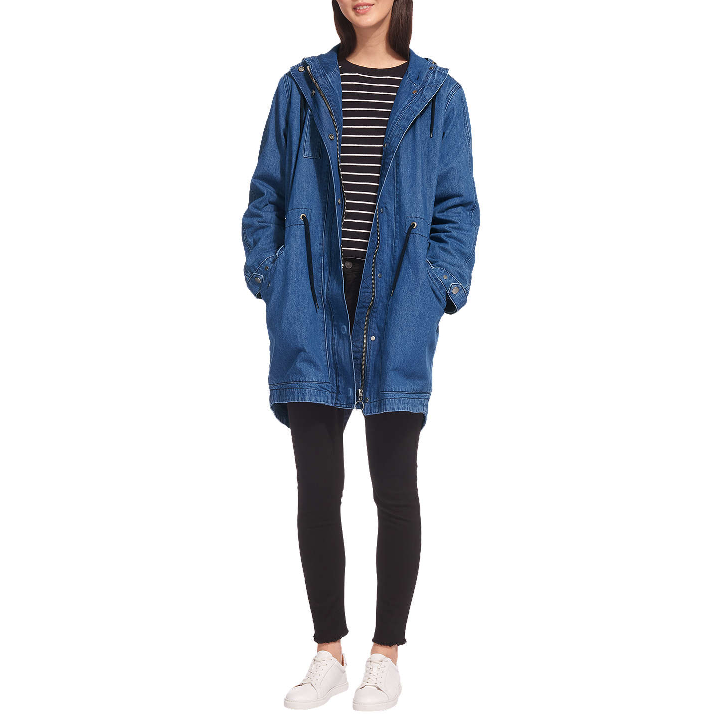 Whistles Milly Denim Parka, Denim by Whistles