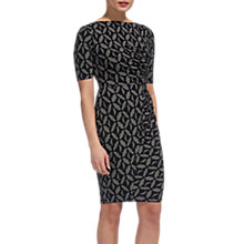 Buy Whistles Maria Geo Print Bodycon Dress, Black/Multi Online at johnlewis.com