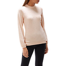 Buy Coast Marion Hotfix Jumper, Blush Online at johnlewis.com