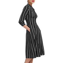 Buy Whistles Leesa Striped Shirt Dress, Black/White Online at johnlewis.com