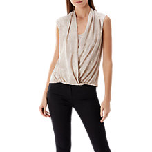 Buy Coast Laurel Metallic Wrap Top, Gold Online at johnlewis.com