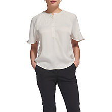 Buy Whistles Paulina Textured Top, Ivory Online at johnlewis.com