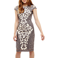 Buy Phase Eight Perdy Tapework Dress, Grey/Multi Online at johnlewis.com
