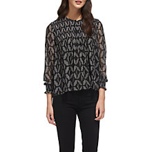 Buy Whistles Belinda Geo Print Blouse, Black/Multi Online at johnlewis.com