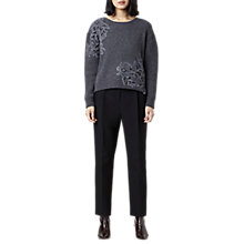 Buy Finery Cortaine Lace Hybrid Knit Jumper, Grey Online at johnlewis.com