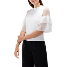 Buy Coast Kelly Tulle Knit Top, Ivory Online at johnlewis.com