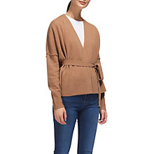 Buy Whistles Wool Wrap Cardigan, Camel Online at johnlewis.com
