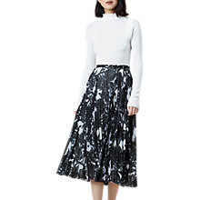 Buy Finery Hobman Pleated Floral Print Skirt, Multi Online at johnlewis.com