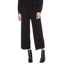Buy Whistles Textured Culottes, Black Online at johnlewis.com