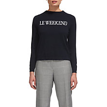 Buy Whistles Le Weekend Jumper, Navy Online at johnlewis.com