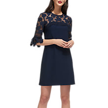 Buy Whistles Regina Lace Panel Dress, Navy Online at johnlewis.com