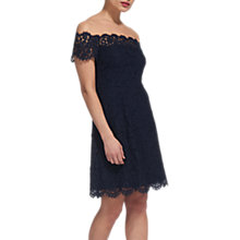 Buy Whistles Off Shoulder Lace Dress, Navy Online at johnlewis.com