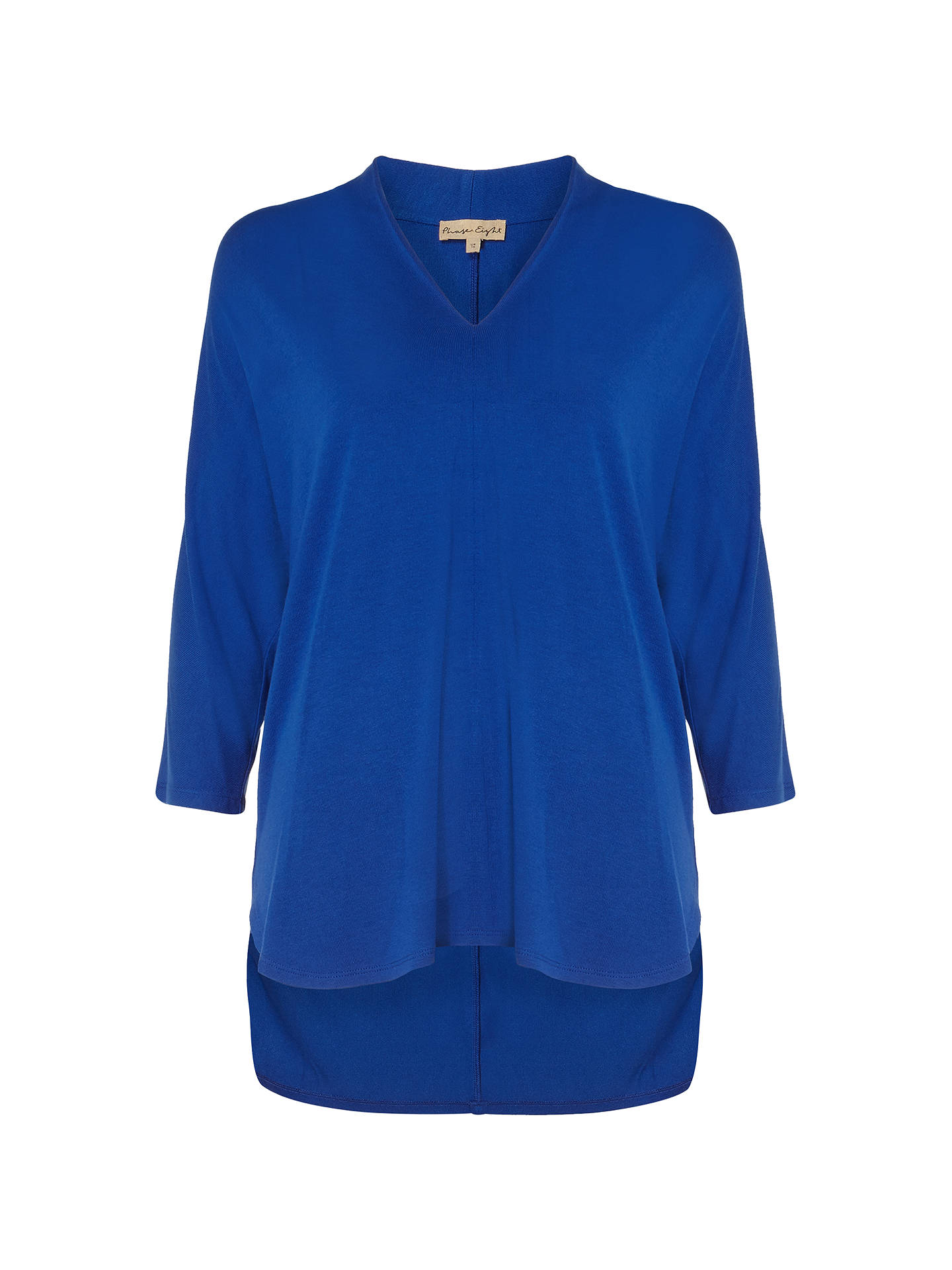 362f81d60035 Buy Phase Eight Vanessa Oversized V Neck Top, Lapis Blue, 8 Online at  johnlewis ...