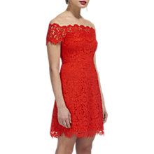 Buy Whistles Off Shoulder Lace Dress, Red Online at johnlewis.com