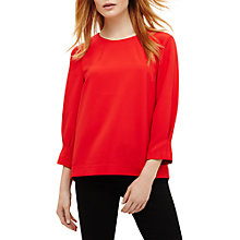 Buy Phase Eight Carmelia Blouse, Cherry Red Online at johnlewis.com