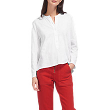 Buy Whistles Slub Cotton Jersey Shirt, White Online at johnlewis.com