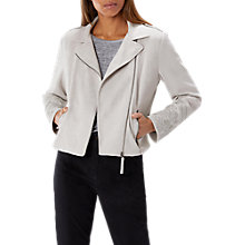 Buy Coast Priscilla Biker Jacket, Silver Online at johnlewis.com