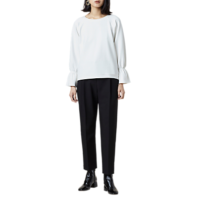 Finery Dunsley Gathered Sweatshirt, Ivory
