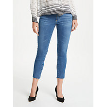 Buy AG The Prima Crop Skinny Jeans, Indigo Viking Online at johnlewis.com