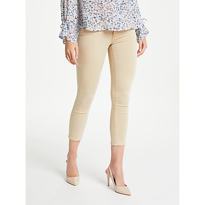 AG The Prima Mid Rise Skinny Cropped Jeans, Sulfur Sand Dune