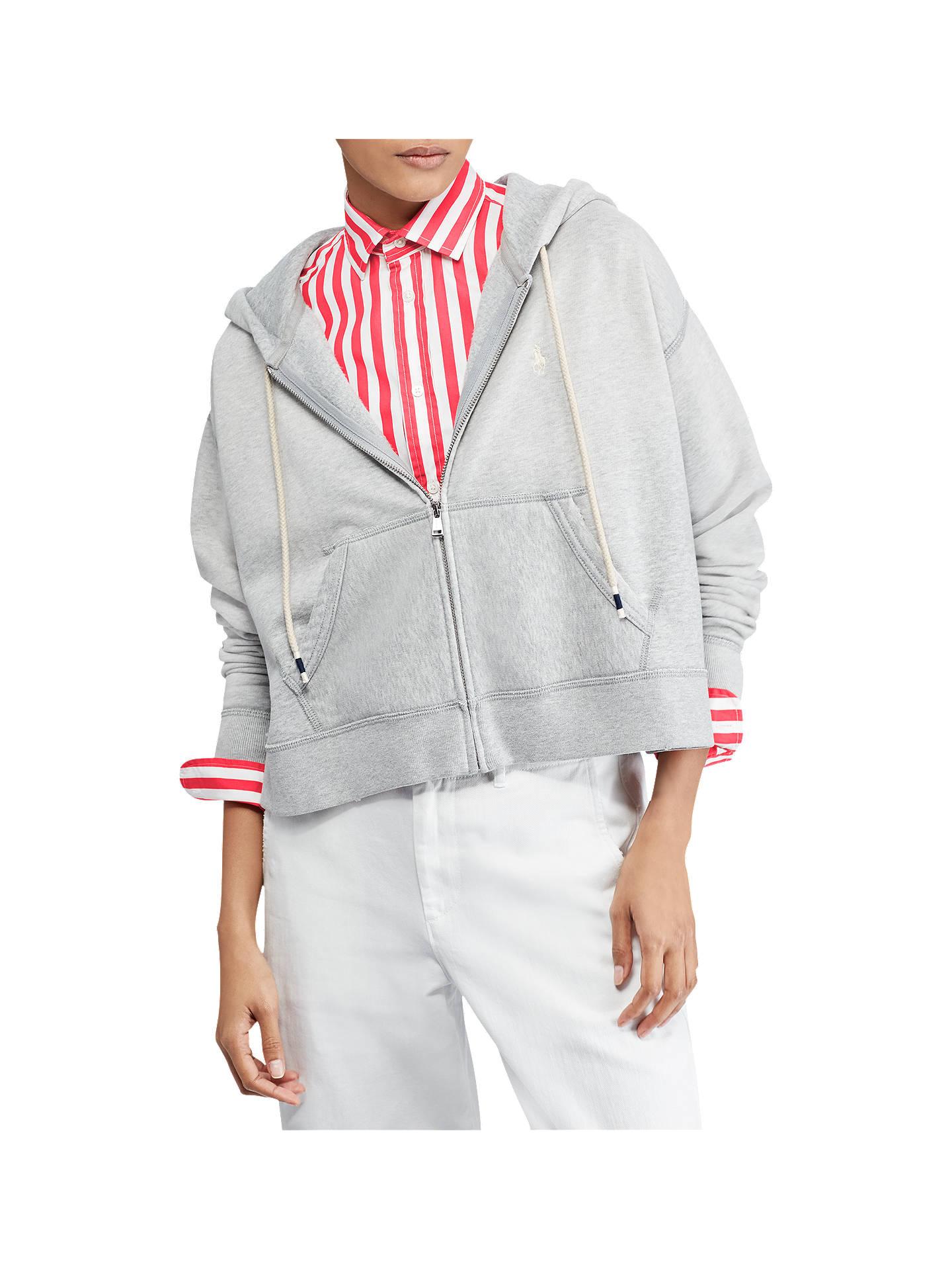 d5cab392e945b Buy Polo Ralph Lauren Cropped Fleece Full-Zip Hoodie