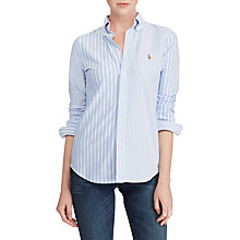 Buy Polo Ralph Lauren Heidi Slim Fit Shirt, Harbor Island Blue Online at johnlewis.com