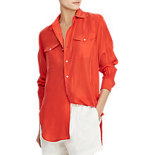 Buy Polo Ralph Lauren Silk Shirt, Tomato Online at johnlewis.com