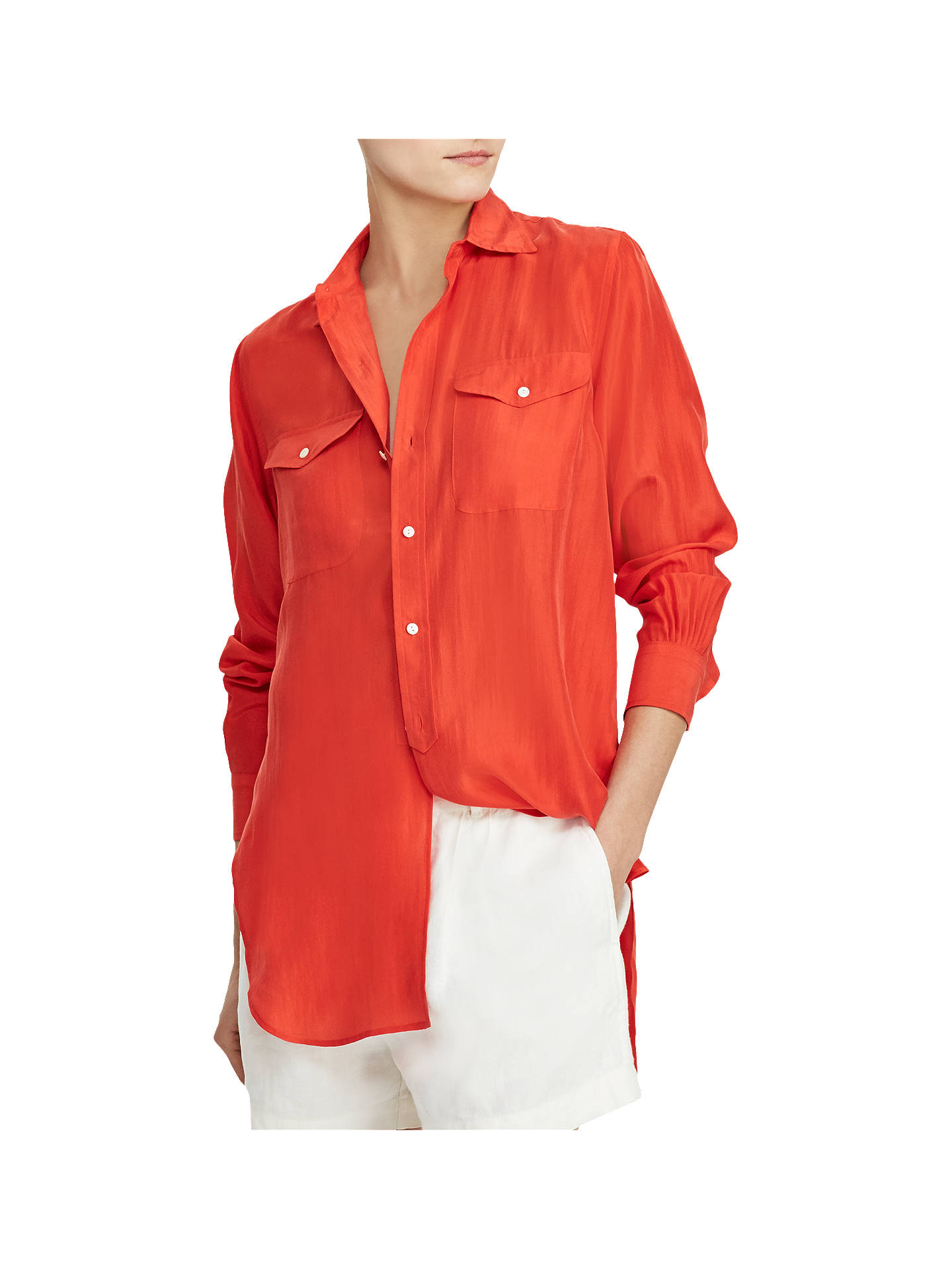 Silk At Ralph Lauren Polo John Partners Lewisamp; ShirtTomato LSMVGqzpU