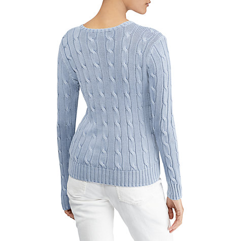 Buy Polo Ralph Lauren Julianna Cable Knit Cotton Jumper Online at johnlewis.com