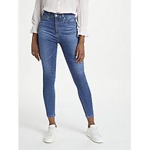 Buy AG The Mila High Waist Ankle Skinny Jeans, Indigo Viking Online at johnlewis.com