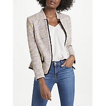 Buy Helene For Denim Wardrobe Notch Jacket, Pink/Navy Online at johnlewis.com