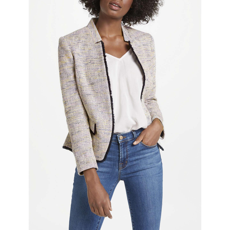 BuyHelene For Denim Wardrobe Notch Jacket, Pink/Navy, 8 Online at johnlewis.