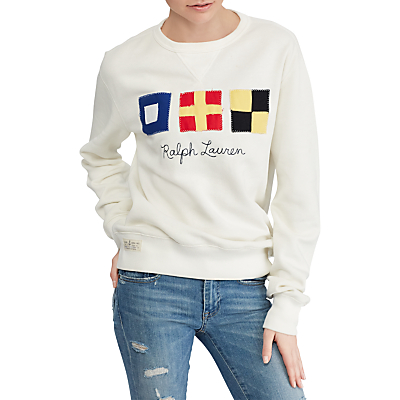 Polo Ralph Lauren Flag Patch Fleece Jumper, Nevis
