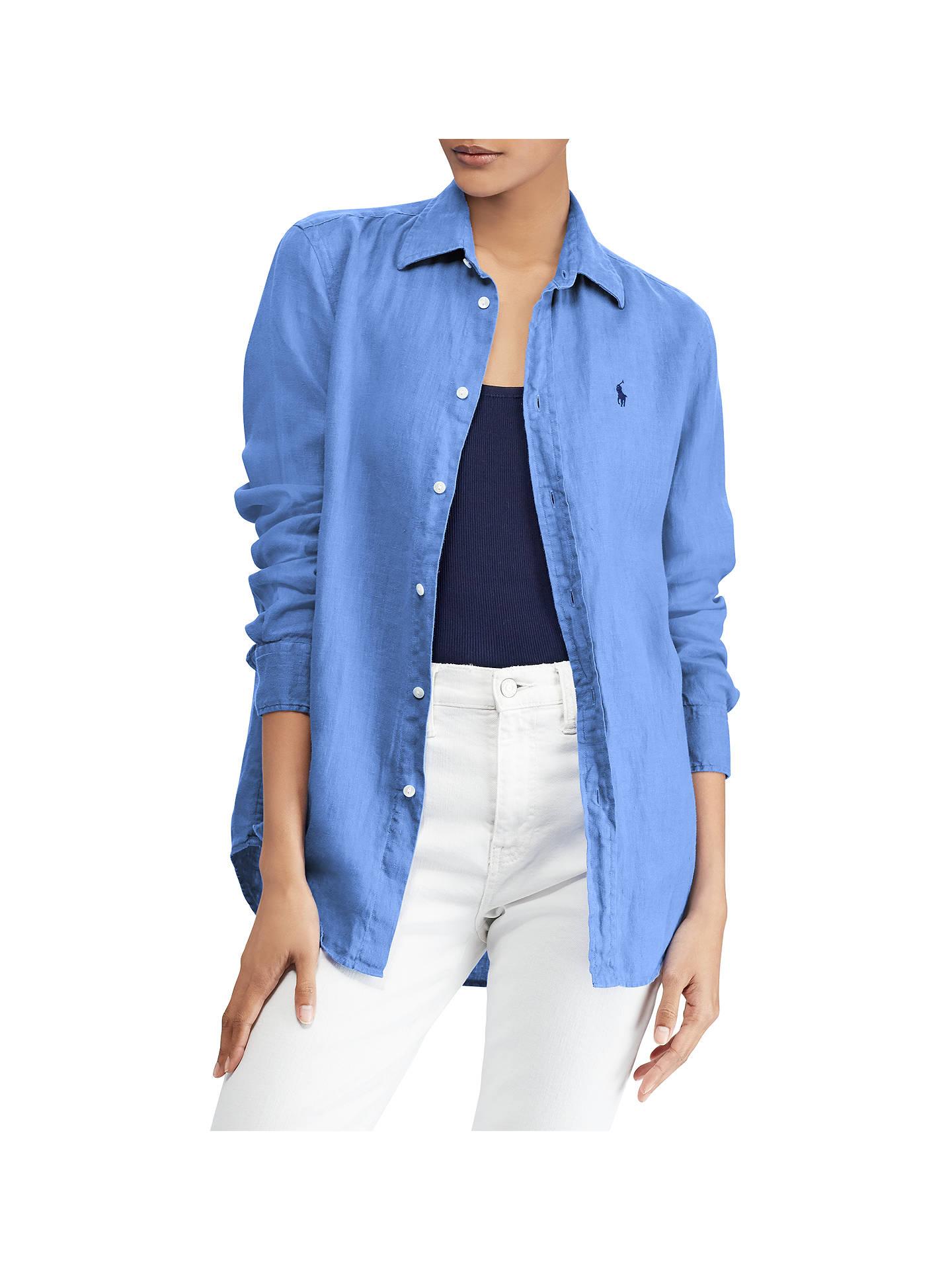 588c2 Ralph Shirt 6c5bb Linen Blue Inexpensive Lauren 8nvON0mw