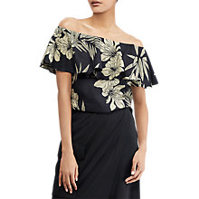 Buy Polo Ralph Lauren Floral Off-the-Shoulder Top, Hawaiian Floral Online at johnlewis.com