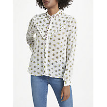 Buy Essentiel Antwerp Psychology Blouse, White/Yellow Online at johnlewis.com