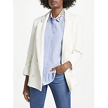 Buy Helene For Denim Wardrobe Pearl Button Blazer, Ivory Online at johnlewis.com