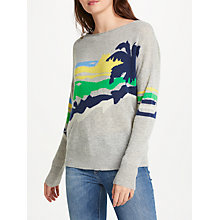 Buy 360 Sweater Sunny Cashmere Jumper, Light Heather Grey/Multi Online at johnlewis.com