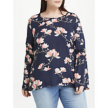 Buy JUNAROSE Annie Blouse Top, Navy Online at johnlewis.com