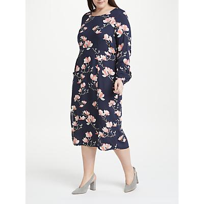 JUNAROSE Anine Floral Print Midi Dress, Navy